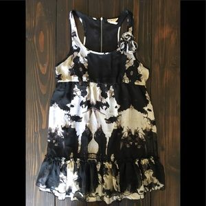 Ruffled racerback dress